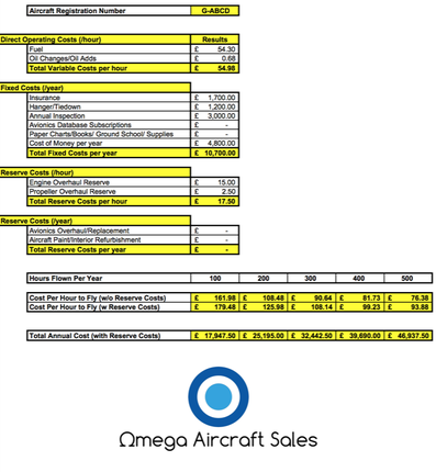 Aircraft Cost Calculator